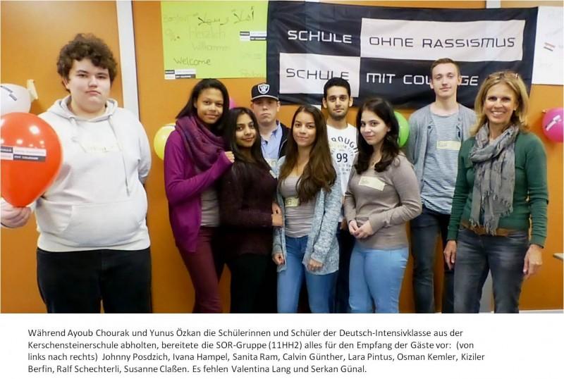 Foto SOR-Projekt Flüchtlingsklasse